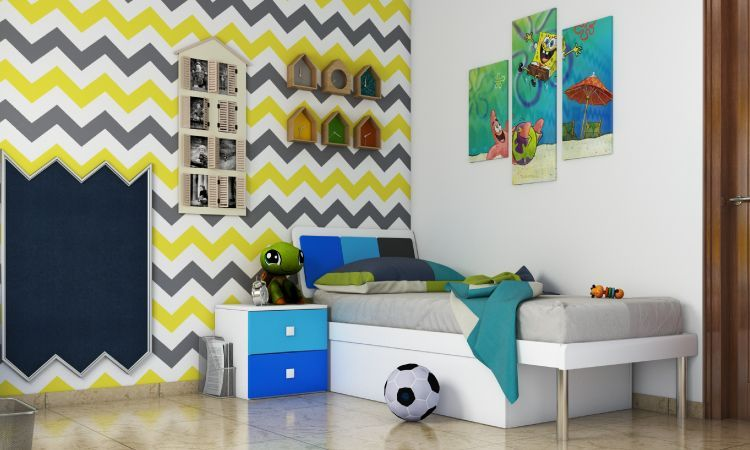7 Refreshing Accent Wall Ideas For Kids Rooms