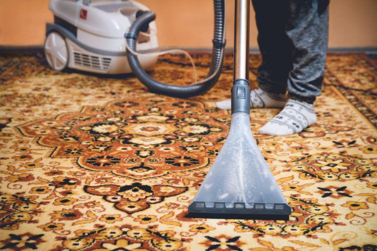 Vacuum regularly for a clean Persian rug.