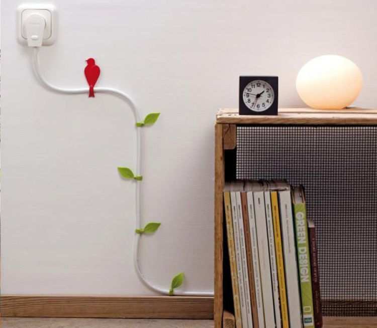 how to hide electrical cords on the walls