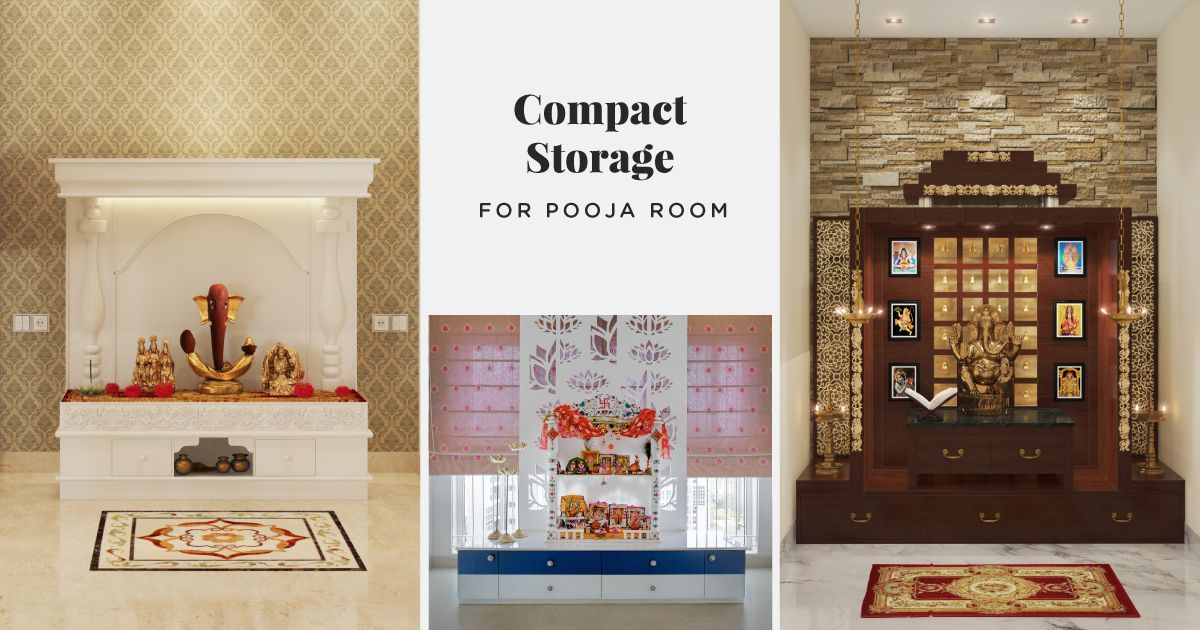 Pooja Rooms that Pack Storage!