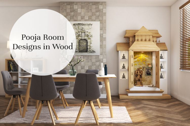 Made of Wood: Inspiring Pooja Rooms for Your Home