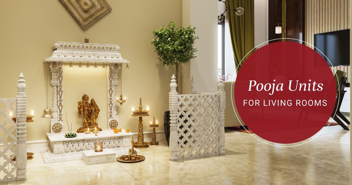 Mandir Designs for Living Rooms