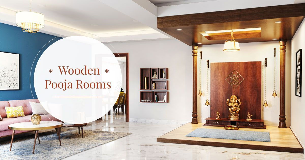 5 Soothing Wooden Pooja Room Designs