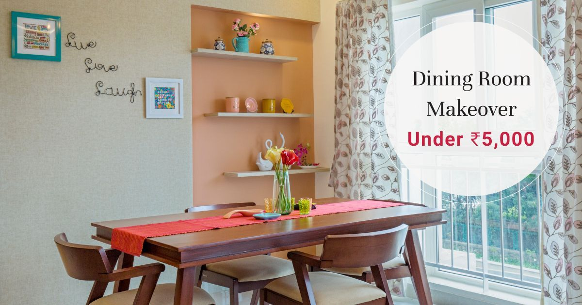 Step up Your Dining Room Within Budget
