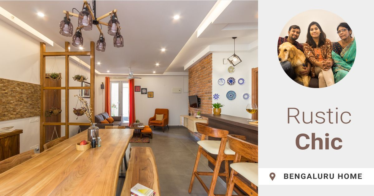 This 3BHK is Earthy with Industrial Elements