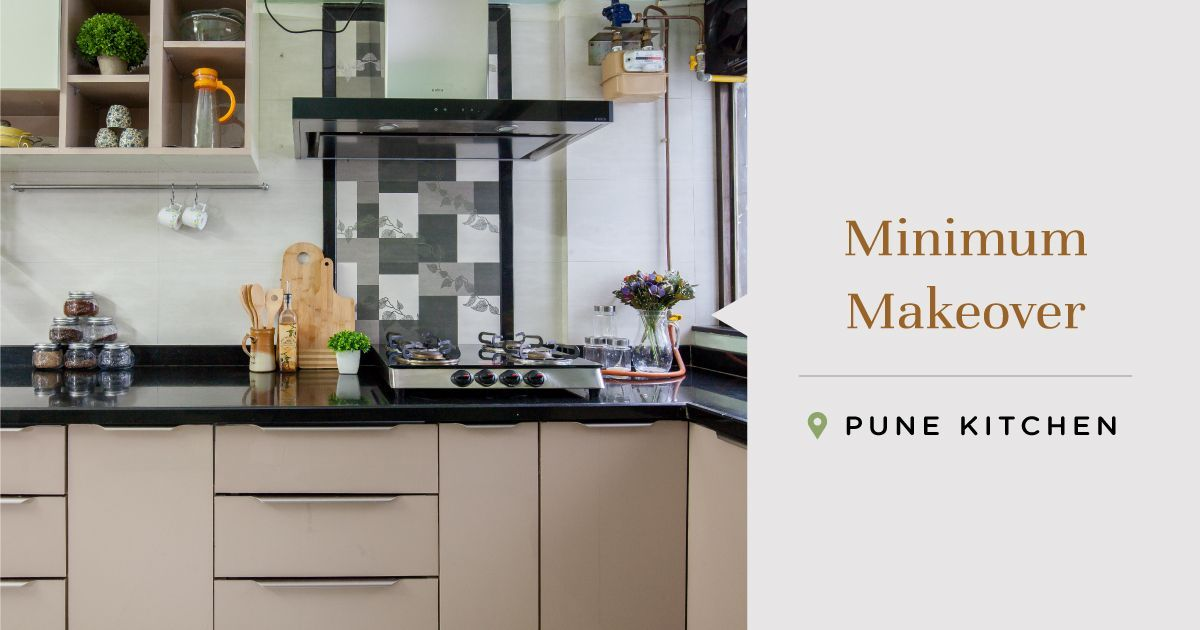 This Semi-modular Pune Kitchen is Neatly Neutral