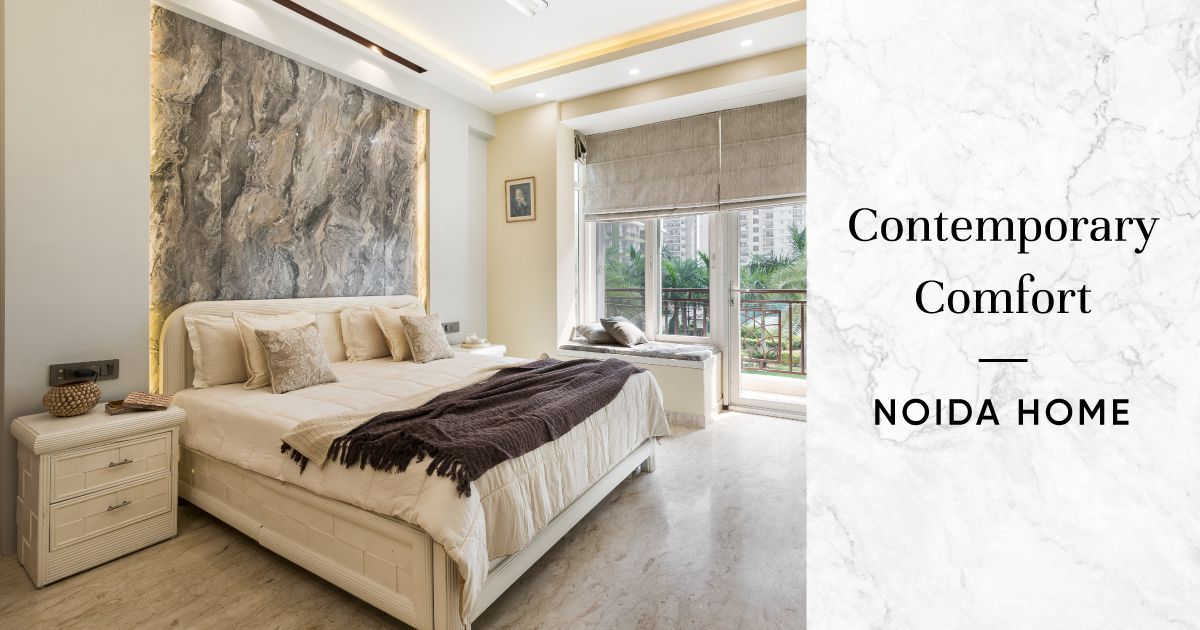 Soothing Colours & Timeless Interiors for 4BHK