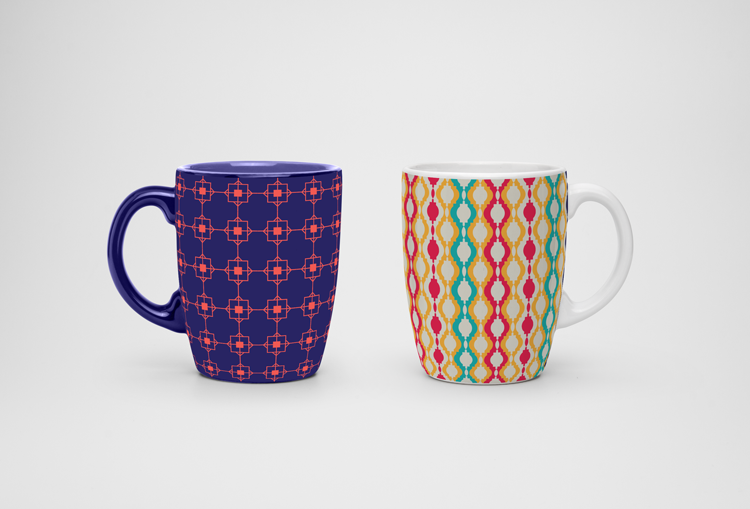 Free Downloadables | 5 Captivating Lattice Prints For Your Mugs