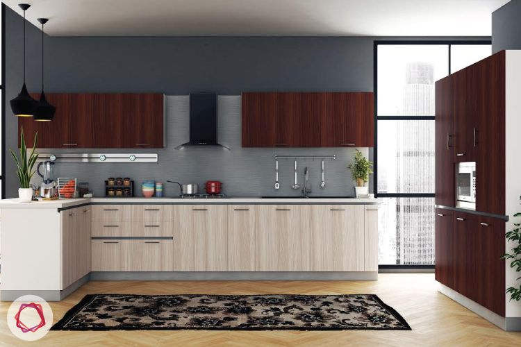 9 Accent Colours For Brown Kitchens