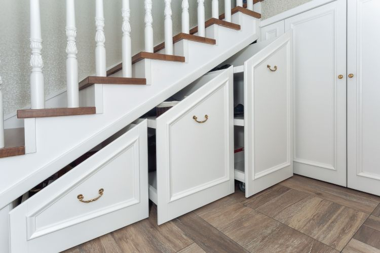 Decorating And Storage Ideas For Space Under Stairs