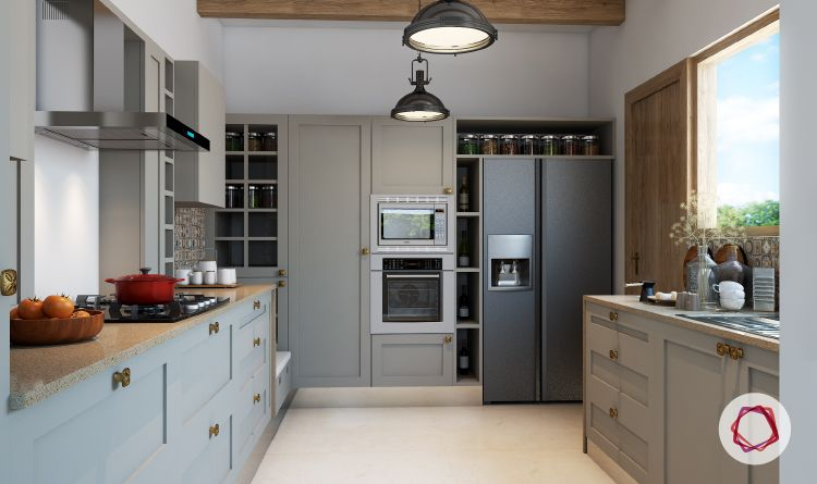 12 Gorgeous Grey Kitchens For Indian Homes