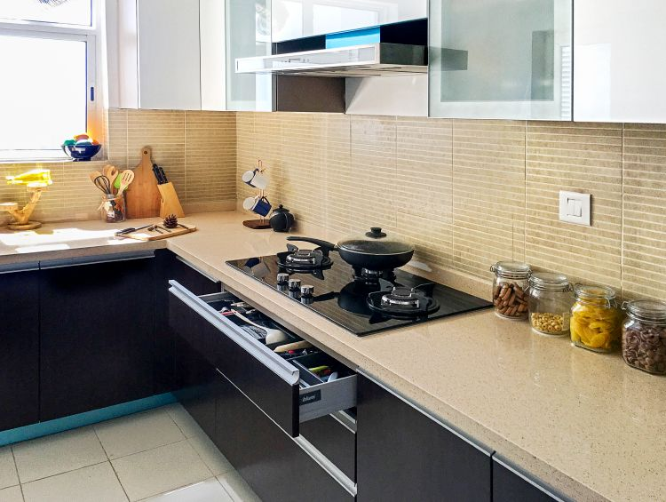 Brushing A Noida Kitchen With Clean Lines