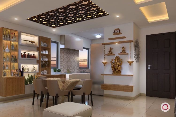 6 fancy false ceiling ideas for every room at home - False wall designs in living room ...