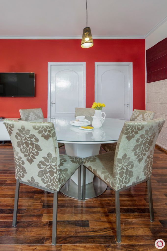 Home Decor Ideas in Red - Dining Room Accent Wall