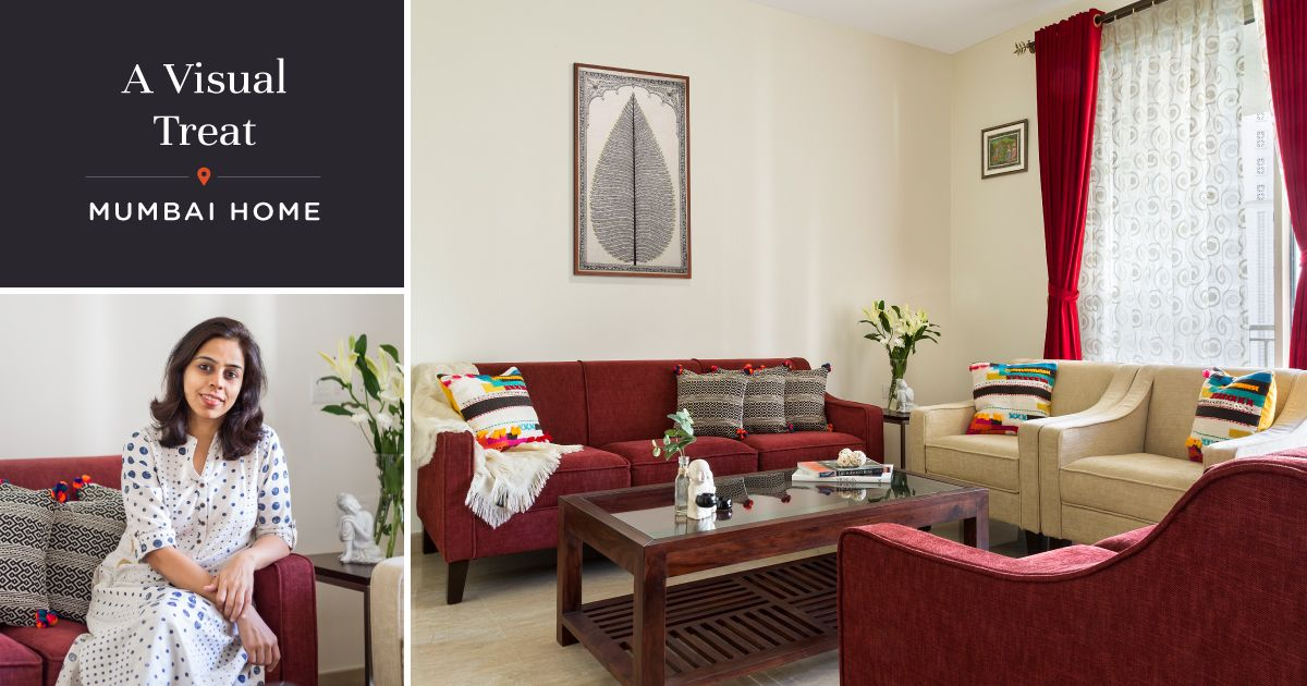 4BHK Hiranandani Home Dipped in Shades of Red