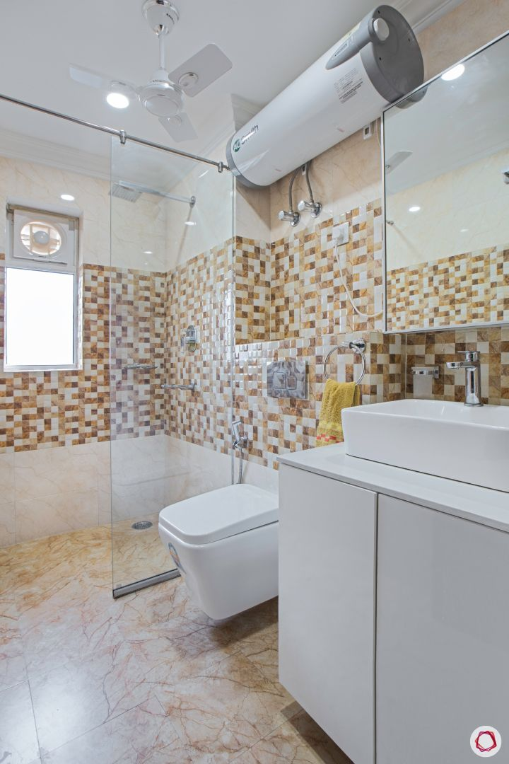 top interior designer bathroom with shower cubicle and vanities
