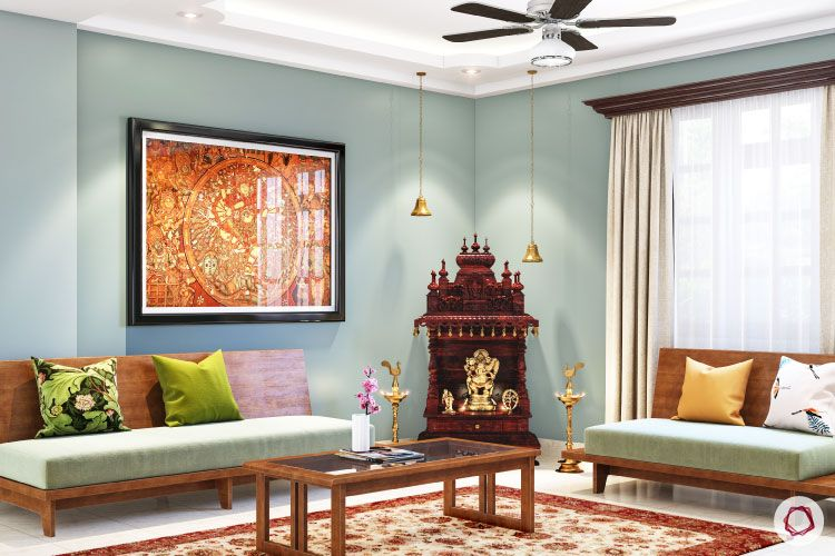 Home Temple Designs For Living Rooms Of All Sizes
