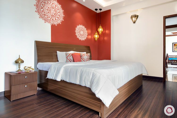 Indian Home Decor Bedroom Brown Drawers Interior Design Ideas