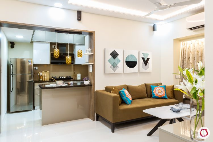 Compact Interior Design For Furnished 2 bhk home