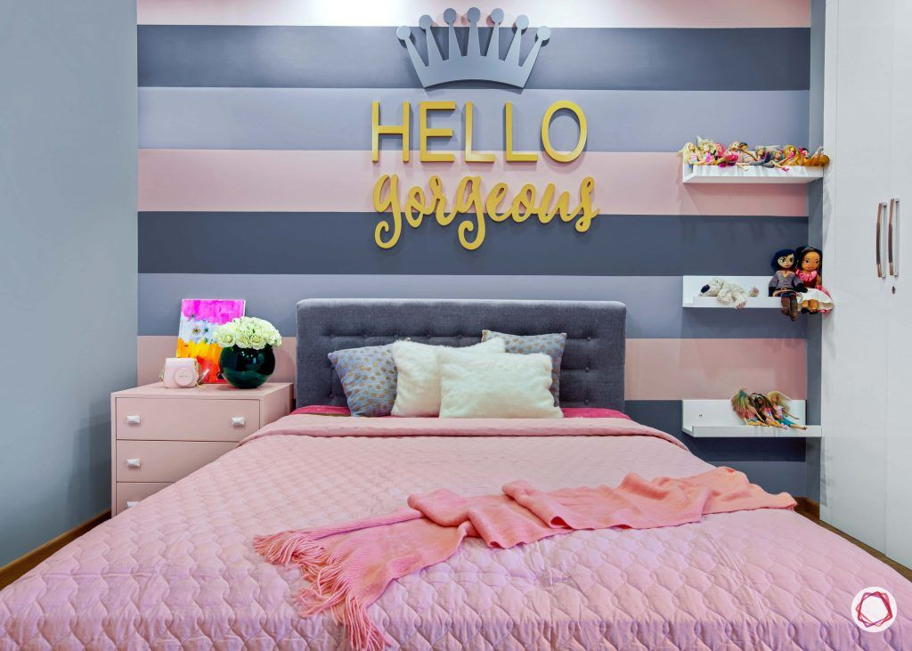 3 bhk flats in noida daughters bedroom colourful wall