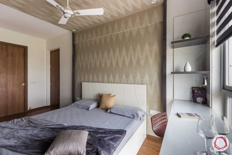 bachelor pad interior design master bedroom bed and study | Interior ...