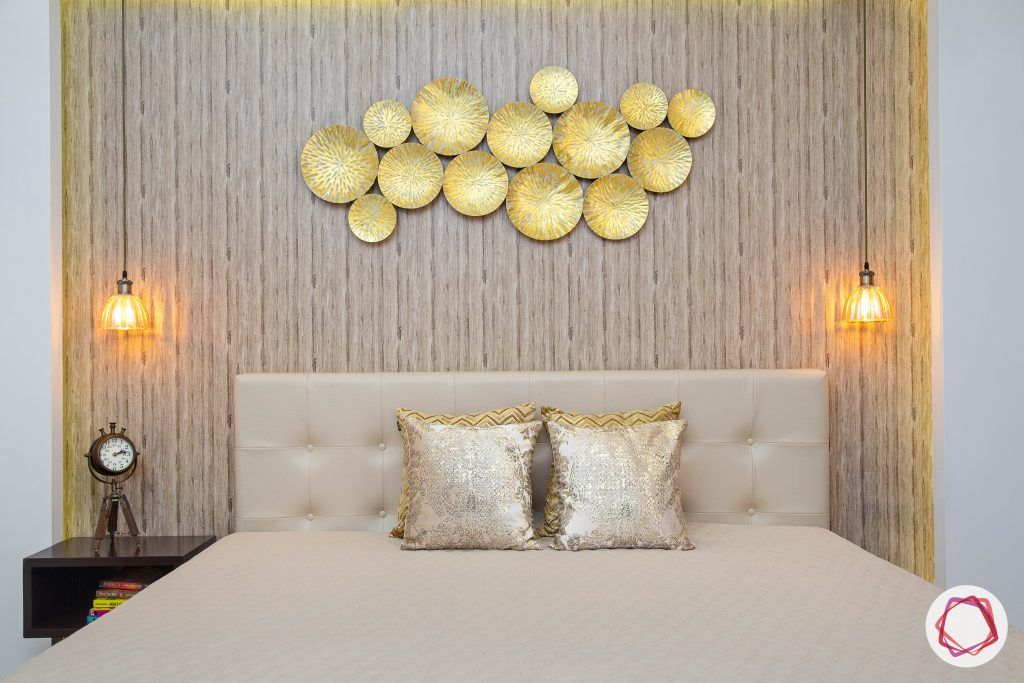 beautiful home design bedroom gold accent