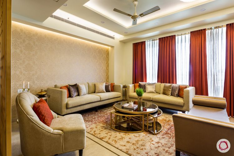 Beautiful home interiors_side view of formal seating in living room