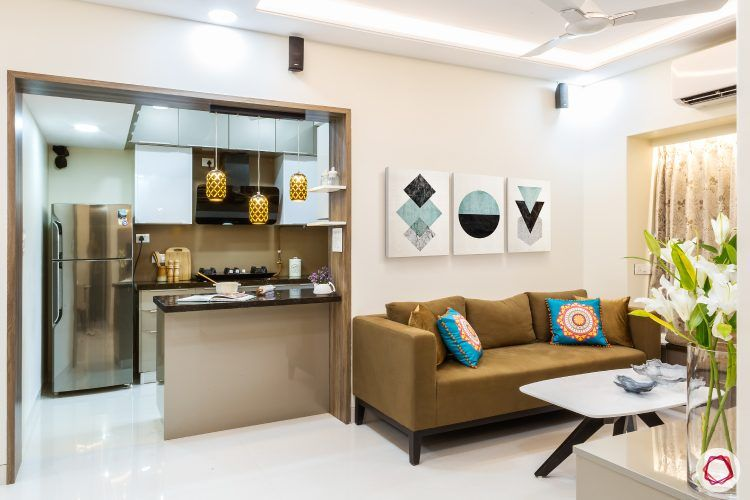 Livspacehomes Low Budget House Living Room Kitchen