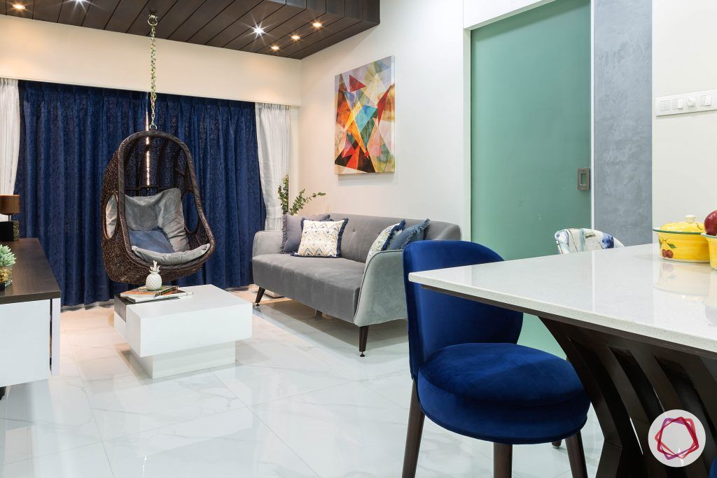 house-renovation-living-room-sofa-swing-dining-table-coffee-table-marble-tiles