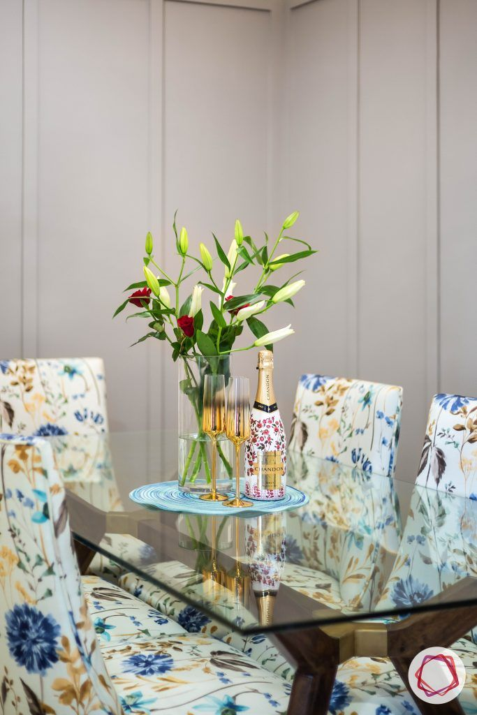 lodha group-dining room designs-glass dining table-dining set for 6