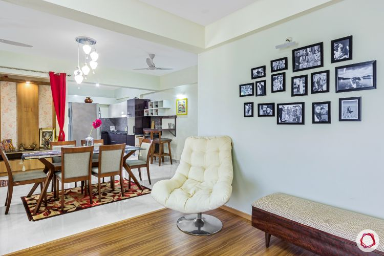 top-interior-designers-in-bangalore-living-room-bench-photo-wall-wooden-flooring