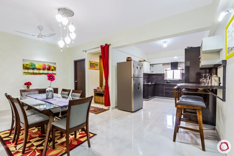 top-interior-designers-in-bangalore-dining-room-accent-light-wooden-rug