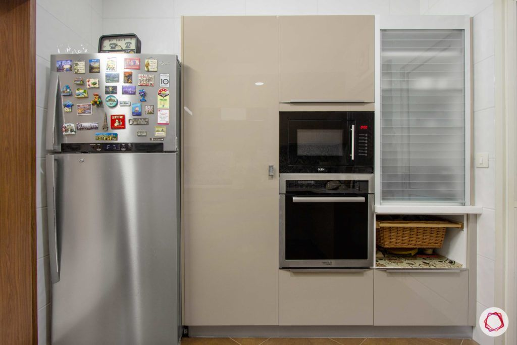 contemporary-house-design-kitchen-taupe-grey-cabinets-glossy-storage