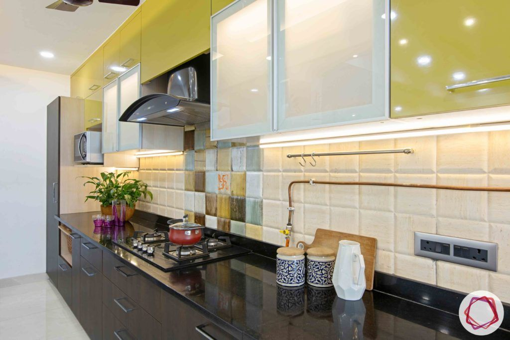 kitchen-before-after-sink-yellow-cabinets-wood-drawers-chimney-backsplash