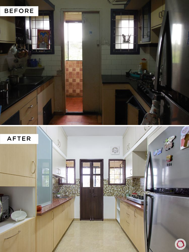 Simple kitchen designs for Indian homes-full-layout-before-after