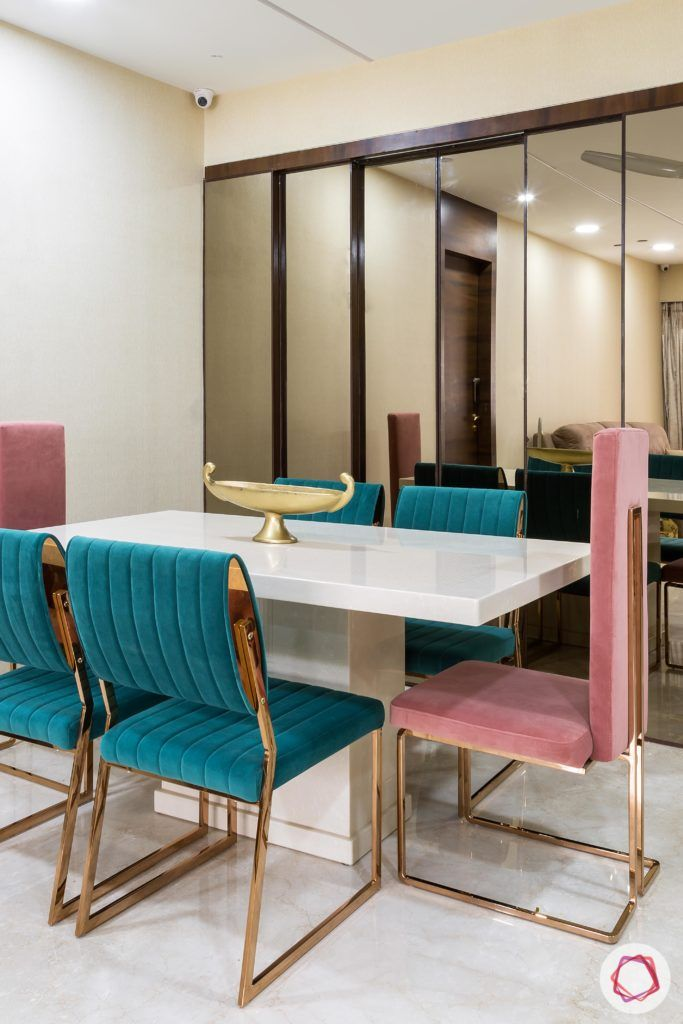 velvet fabric-dining chairs-velvet chairs-pink chairs-blue chairs