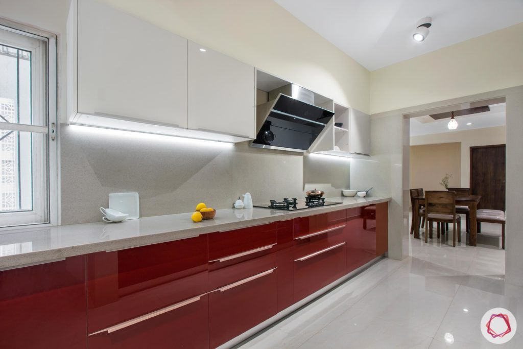 kitchen colors-red kitchen designs-red and white kitchens