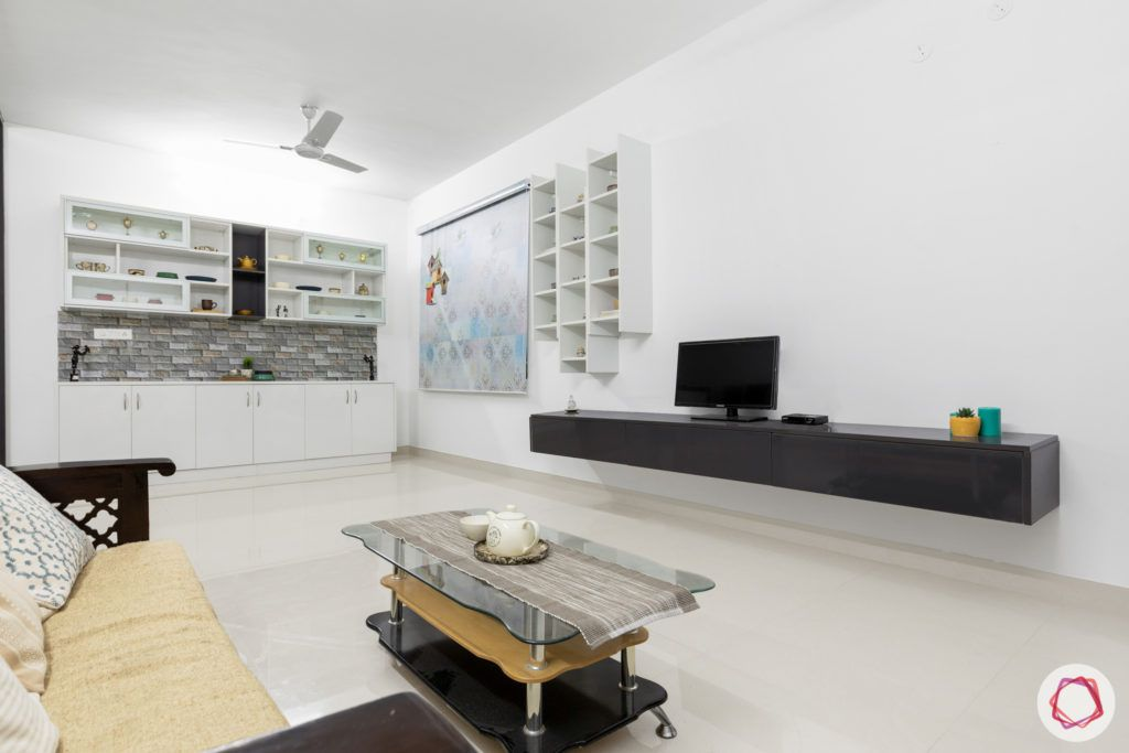 top 10 interior designers in Hyderabad-living-room-TV-cabinet-table