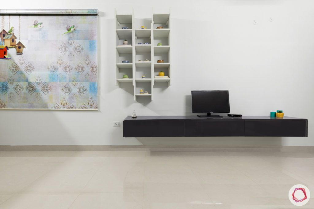 top 10 interior designers in Hyderabad-living-room-TV-cabinet-table-blinds