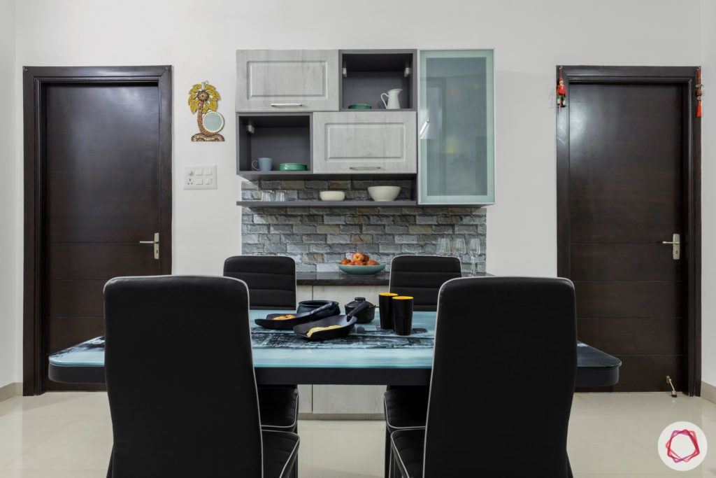 top 10 interior designers in Hyderabad-dining-room-crockery-cabinet-chairs