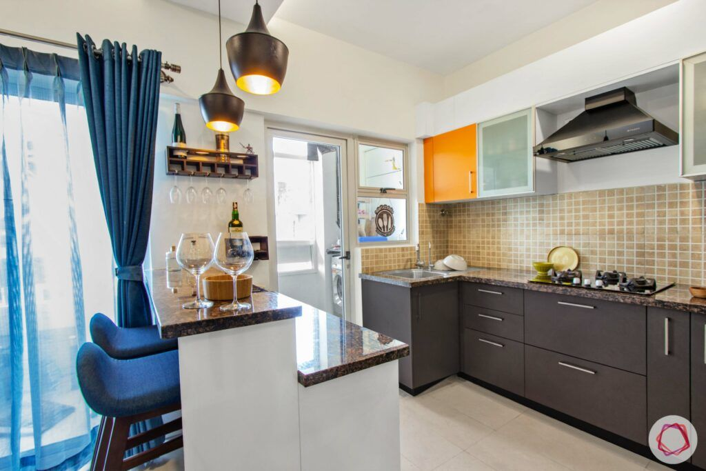 breakfast counter-bar counter-kitchen cabinets