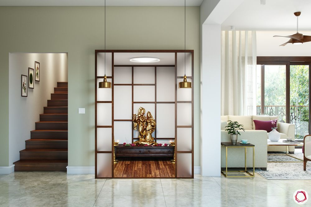 pooja-room-door-glass-frosted glass-frosted panels
