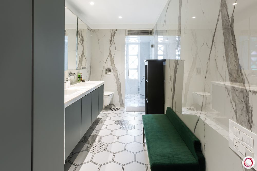 difference between ceramic and vitrified tiles-ceramic flooring-bathroom-couch