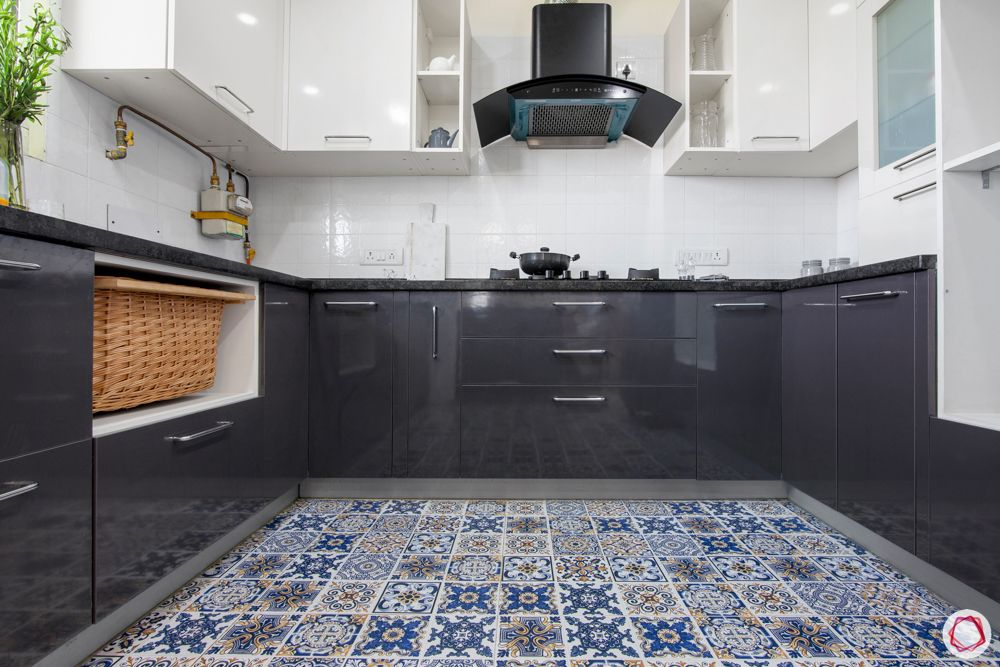 difference between ceramic and vitrified tiles-moroccan tiles flooring-grey and white cabinets
