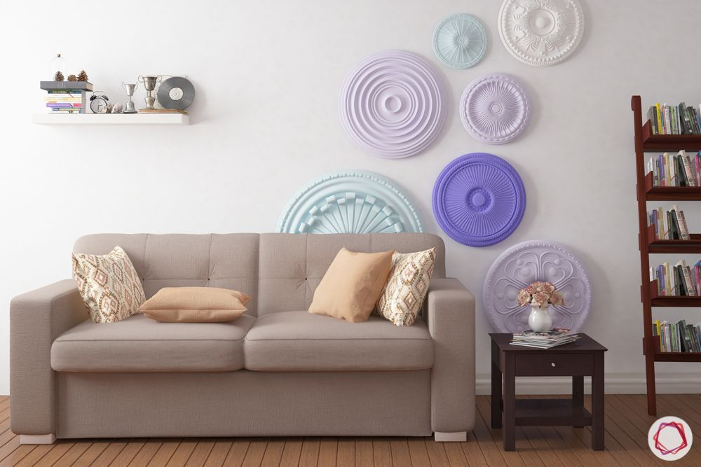 pastel colors-living room-couch-wall accessories