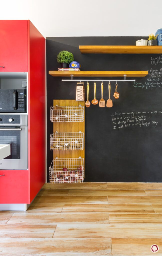 new kitchen on a budget-blackboard for kitchen