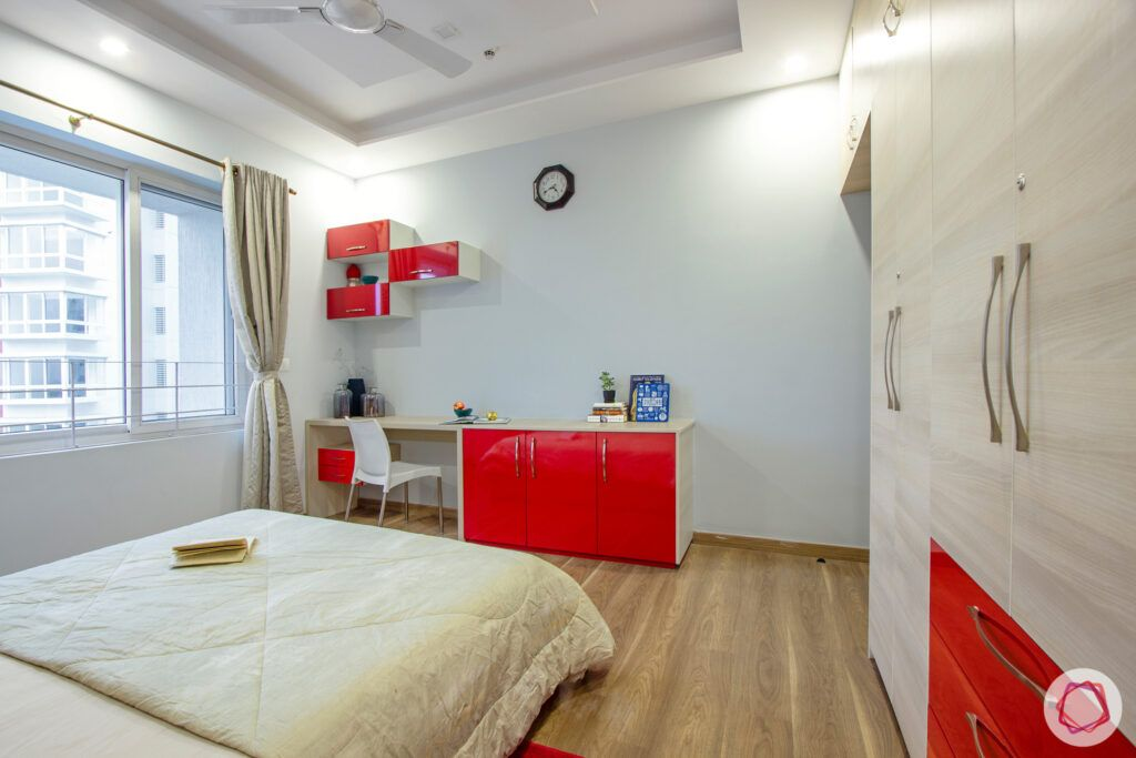 working ledge designs-red wall cabinet designs
